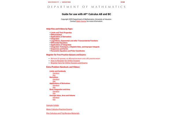 Ap Calculus Bc 2020 Info Online Ap Calculus Bc Details Earlyscores